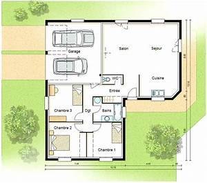 plan maison contemporaine basse consommation plans maisons With attractive idee maison plain pied 2 photo de maison darchitecte plain pied