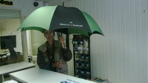 umbrella with fan and mister how much would you pay for an anglo irish bank umbrella