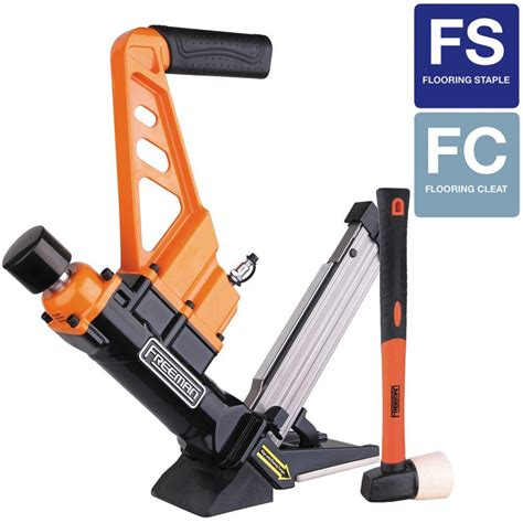 Hardwood Floor Nailer Home Depot by Freeman 3 In 1 Flooring Air Nailer And Stapler With