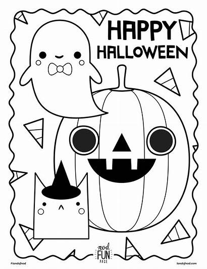 Halloween Coloring Printable Nod Check Looking