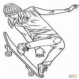 Coloring Pages Skate Skateboarding Hockey Printable Print Getcolorings Getdrawings sketch template