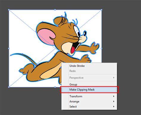 crop gambar menyesuaikan bentuk  adobe illustrator