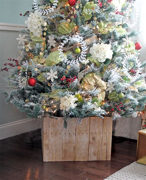the craft patch diy faux barn wood christmas tree stand