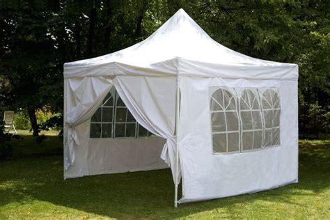 tente de reception pliante tente pliante 3x3 m blanc tonnelle en polyester 260g m armature acier destockoutils