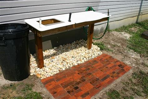 outdoor fish cleaning station with sink outside sink station pictures to pin on pinsdaddy