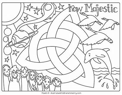 Coloring Bible Story Illustrated Children