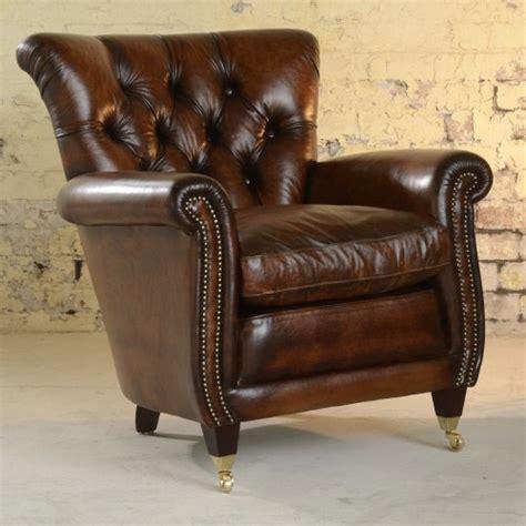 fauteuil anglais coleridge en cuir de vachette longfield