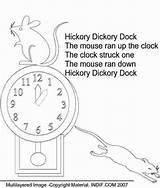 Hickory Dock Dickory Coloring Nursery Rhyme Worksheets Colouring Sheets Rhymes Printable English Songs Picasa Espemoreno Es Tongue Moon Printablee sketch template