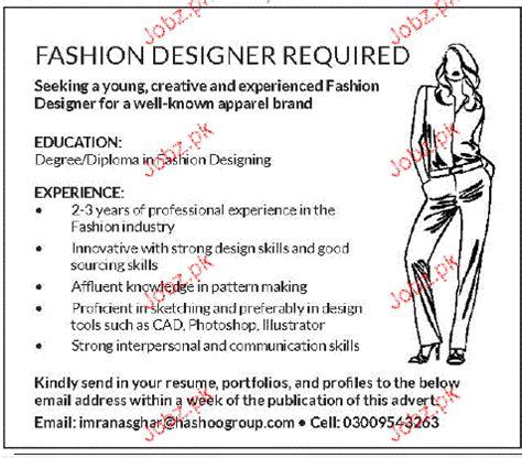 fashion designer description fashion designers opportunity 2018 pakistan