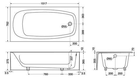 bathtub dimensions paieška standard