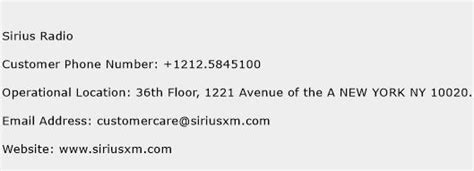 siriusxm customer service phone number sirius radio customer service number toll free phone