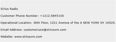sirius phone number sirius radio customer service number toll free phone