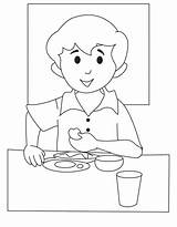 Breakfast Coloring Pages Print Coloringtop sketch template