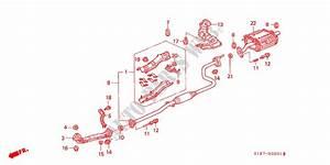1998 Honda Civic Exhaust System Diagram