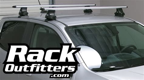 chevrolet colorado thule silver aeroblade roof rack