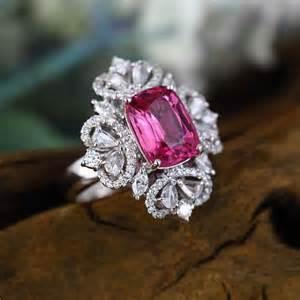 pink tourmaline engagement ring pink tourmaline engagement ring 4 6 carat pink tourmaline 1 3 carat and 14k white