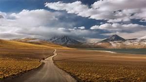 Deserts, Way, Through, The, Atacama, Desert, In, Chile, Desktop, Wallpaper, Full, Screen, Wallpapers13, Com