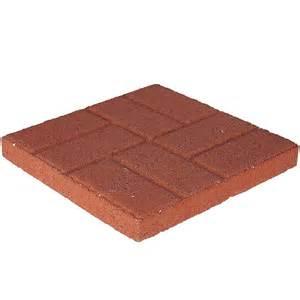 16 in x 16 in red brickface concrete step stone 72661