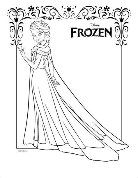 Kleurplaat Elsa Verjaardag by Frozen En Elsa Kleurplaten 187 Animaatjes Nl