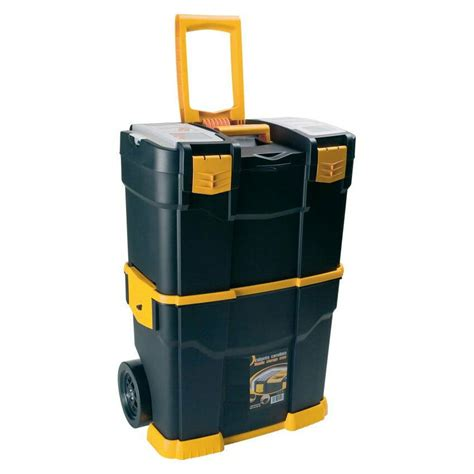 Mobile Tool Case With Wheels Large Toolbox Trolley Cart