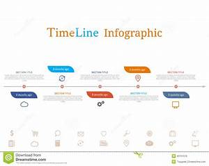 Timeline Infographic With Diagram And Text Stock Vector