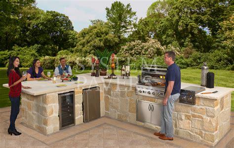 Outdoor Kitchen Island Kits - bbq islands custom built in outdoor grills barbecue islands
