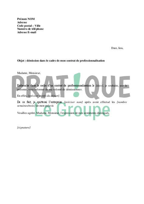 lettre de demission cdi cadre modele lettre de demission cadre