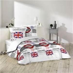 Idees deco british pour chambre d39ado decorer une for Chambre à coucher adulte avec housse couette londres 2 personnes