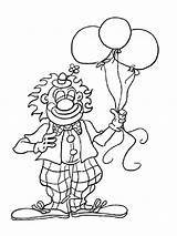 Coloring Pages Circus Clown sketch template