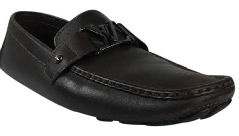 louis vuitton brown mens driving loafers flats size