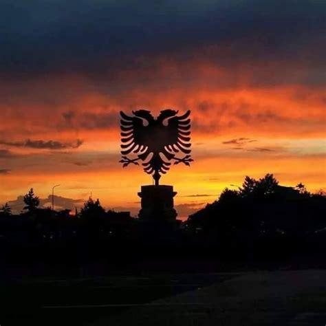 albanian eagles flagge hintergrund albanische flagge
