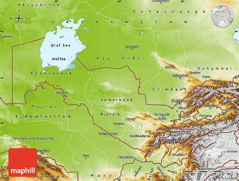 usbekistan physik karte
