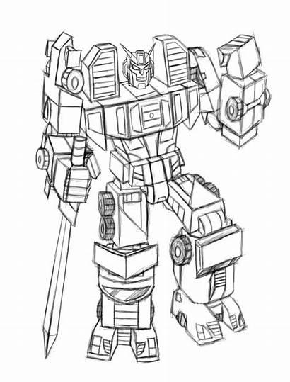 Menasor Transformers Concept Drawings Energon Rpg Uncolored