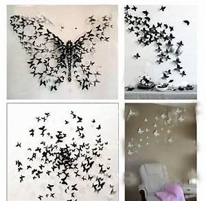 3d Schmetterlinge Wand : die besten 17 ideen zu papierschmetterlinge auf pinterest origami bastelarbeiten aus papier ~ Whattoseeinmadrid.com Haus und Dekorationen