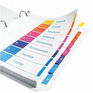 avery binder tab templates quotavery ready index table of contents