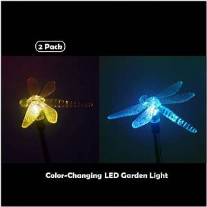Outdoor, Solar, Garden, Stake, Light, Solar, Powered, Color, Changing, Led, Decorative, Light, Dragonfly, For