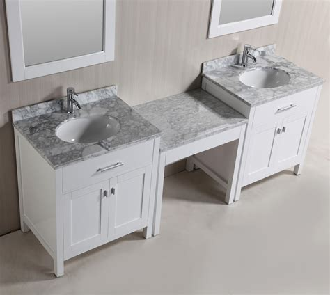 Single Sink Vanity With Makeup Table by Two Stanmark 30 Single Sink Vanity Set In White