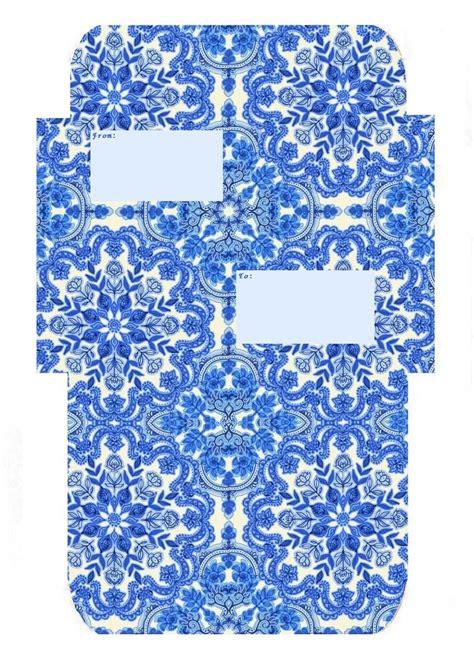 label version blue delft mail envelope template