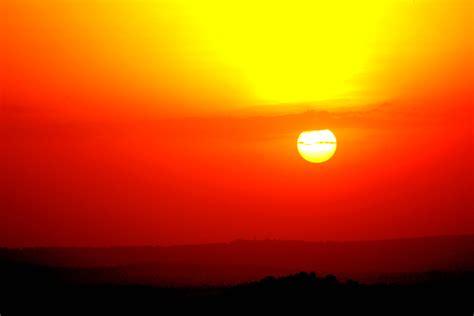 orange sun  sunset  stock photo