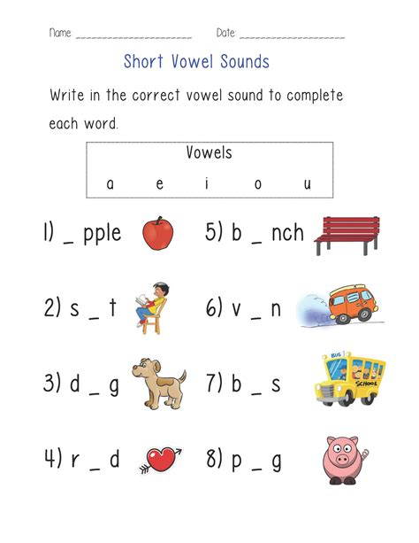 vowel sounds worksheet englishlinx board