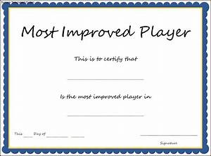 Improved attendance certificate template choice image for Most improved certificate template