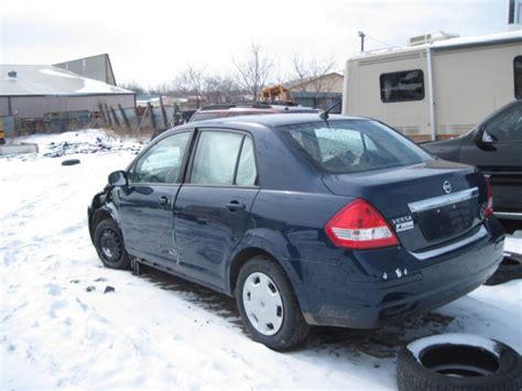 cheap fixer upper  nissan versa sl  dr blue  auto