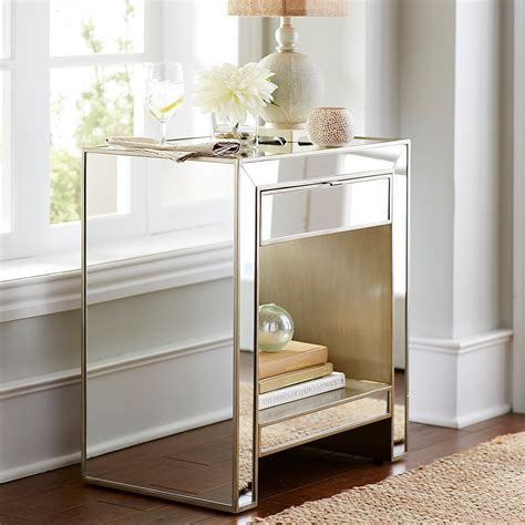 One Nightstand by Mirrored Nightstand Pier 1 Imports