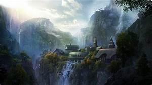 Fantasy, Art, Rivendell, Wallpapers, Hd, Desktop, And, Mobile