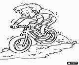 Mountain Coloring Bike Pages Extreme Sports Adventure Descent sketch template