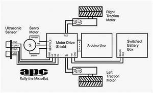 Rangkaian Robot Microbot Menggunakan Arduino Uno