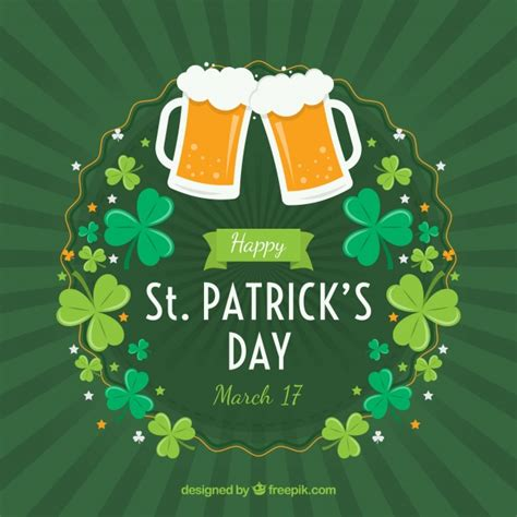 St Patricks Day Background St S Day Background Vector Free