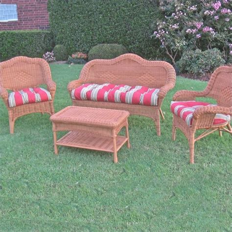 Settee Set by Blazing Needles Outdoor Wicker Settee Cushions Set Of 3