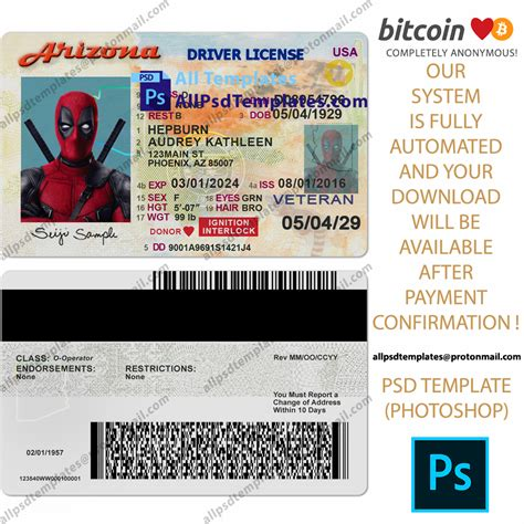 You may visit a county probate or license commissioner office to: Arizona Driver License Template - ALL PSD TEMPLATES