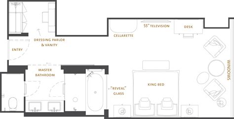 room floor plan executive hotel room with lounge access the langham